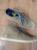 Pantofi -ghete barbat TIMBERLAND Earth Keepers originali piele intoarsa 43.5, Crem