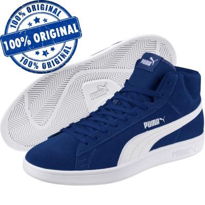 Pantofi sport Puma Smash Mid pentru barbati - ghete originale - piele intoarsa foto