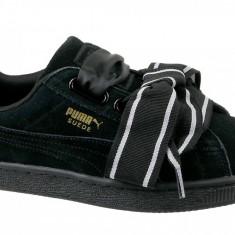Incaltaminte sneakers Puma Suede Heart Satin II 364084-01 pentru Femei