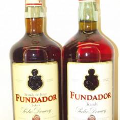 2 sticle - brandy, FUNDADOR, pedro domecq, Jerez, L. 1    gr 37/36