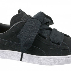 Pantofi sport Puma Suede Heart Jr 365135-02 pentru Copii, 37.5, 38, 38.5, 39, Negru