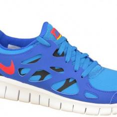 Pantofi alergare Nike Free 2 Gs 443742-404 pentru Copii, 37.5, 38, Albastru