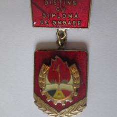 Insigna Pionier distins cu diploma de onoare anii 80