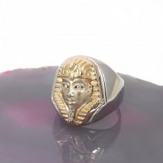 Inel deosebit pfarao aur 14k tutankhamoun cu briliante