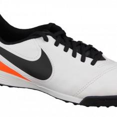 Cizme de fotbal gazon Nike Kids Tiempo Legend VI TF Jr 819191-108 pentru Copii, 36.5, 37.5, 38, 38.5, Alb
