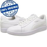 Pantofi sport Puma Smash 2 pentru femei - adidasi originali - piele naturala, 36, 37, 37.5, 38 - 40, 40.5, Alb