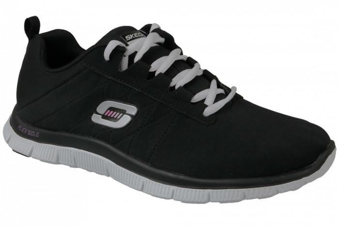 Pantofi sport Skechers Flex Appeal 11883-BKW pentru Femei