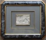 Peisaj - Tablou din argint - semnat, stantat, Ornamentale