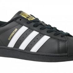 Pantofi sport adidas Superstar Foundation B27140 pentru Barbati, 36, 36 2/3, 37 1/3, 38, 38 2/3, 39 1/3, 40, 40 2/3, 41 1/3, 44 2/3, Negru