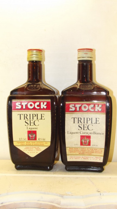 2 STILCE STOCK TRIESTE Triple Sec, curacaoBIANCO