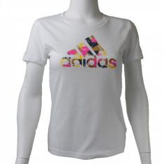 Tricou Adidas Foil Logo Tee AI6138 pentru Femei, Alb