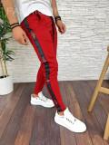 Pantaloni de trening pentru barbati cu dunga - PREMIUM - ROSII- A2753 93-2