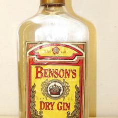 Benson, dry gin, CL 70 GR 40 ani 90