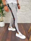 Pantaloni de trening pentru barbati cu dunga - PREMIUM - GRI - A2754 (93-2)