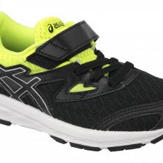 Pantofi alergare Asics Amplica PS C809N-9093 pentru Copii, 28.5, 31.5, 33.5, Negru