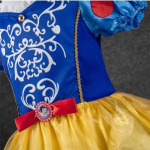 Rochita Alba ca Zapada , Rochie petrecere  5, 6, 7, 8 ani