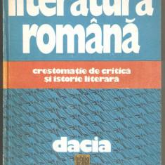 Literatura Romana -Crestomatie de critica si istorie literara