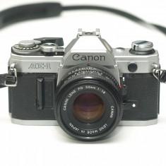Canon AE-1 cu obiectiv Canon FD 50mm 1.8