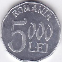 Moneda Romania 5.000 Lei 2003 - KM#158 UNC, Aluminiu
