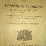 Iorga - GORCEIX. ANTHOLOGIE DE LA LITTERATURE ROUMAINE, Paris, 1920