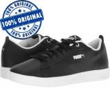 Pantofi sport Puma Smash 2 Perf pentru barbati - adidasi originali - piele, 38 - 40, Negru, Piele naturala