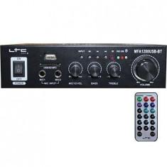 Amplificator karaoke 2x50W USB/SD/BLUETOOTH negru