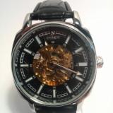 Ceas barbatesc Goer Clasic Black - Mecanism Automatic, Elegant, Mecanic-Automatic, Inox