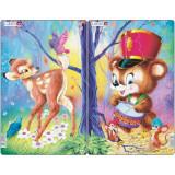 Set 2 Puzzle-uri Animale Simpatice, 14 piese Larsen LRCU1 B39016895