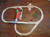 Bnk jc - Traseu linii lemn cu trenulete inclus - compatibile Thomas&Friends