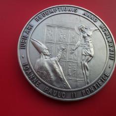 Placheta comemorativa-Vatican-Argintata-RARA!!!-60mm. -fete diferite, Europa