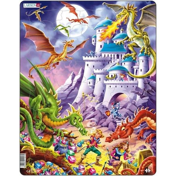 Puzzle Dragoni, 50 Piese Larsen LRUS17 B39016754