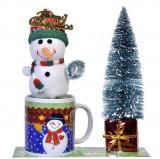 Set - Cana de Ceramica Cu Ornament De Craciun