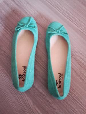 Balerini dama noi nouti piele marca Footsoul foto