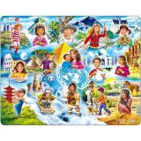 Puzzle Copiii din Lume, 15 Piese Larsen LRNM8 B39016779