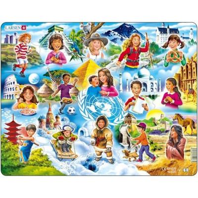 Puzzle Copiii din Lume, 15 Piese Larsen LRNM8 B39016779 foto