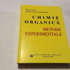 CHIMIE ORGANICA, METODE EXPERIMENTALE de MIRCEA IOVU SI TEODOR OCTAVIAN NICOLESC