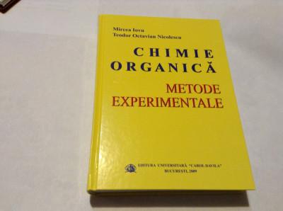 CHIMIE ORGANICA, METODE EXPERIMENTALE de MIRCEA IOVU SI TEODOR OCTAVIAN NICOLESC foto