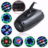 SCANNER LUMINI DISCO PE LEDURI,MODEL NOU,SENZOR MISCARE SUNET, DJ,PARTY,DISCO.