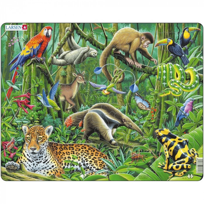 Puzzle Padurea Tropicala din America de Sud, 70 Piese Larsen LRFH10 B39016858