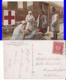 Bucovina -militara, Crucea Rosie,gara,tren-spital- WWI, WK1-rara