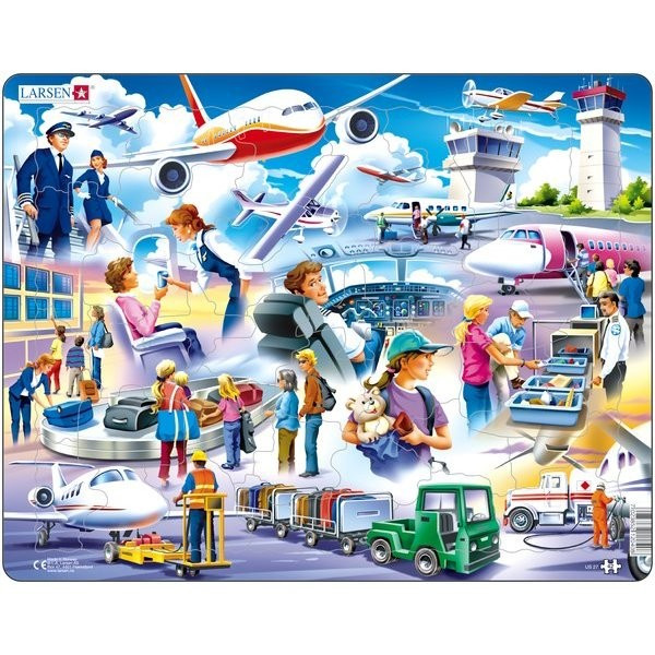 Puzzle Aeroport, 42 Piese Larsen LRUS27 B39016755