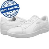 Pantofi sport Puma Smash 2 pentru barbati - adidasi originali - piele naturala, 38 - 40, 40.5, 42, 44.5, 45, 46, Alb