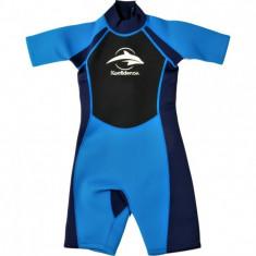 Konfidence - Costum inot din neopren pentru copii Shorty Wetsuit blue 7-8 ani