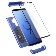Husa Originala Spigen 360 Grade Thin Fit Samsung Galaxy S9+ Plus Cu Folie Sticla Curbata Inclusa ,blue Coral