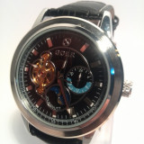 Ceas Automatic Goer Black Dial, Casual, Mecanic-Automatic, Inox