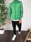 Hanorac barbati verde - hanorac barbati - hanorac slim fit - cod A2490, S, XL, Bumbac, Din imagine