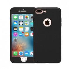 Husa 360 Grade Silicon iPhone 7 Plus Negru