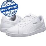 Pantofi sport Puma Smash pentru barbati - adidasi originali - piele naturala, 45, 46, Alb
