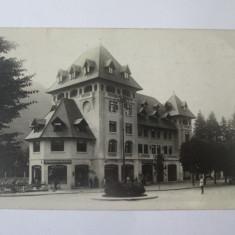 Carte postala foto Sinaia:Park Hotel,Bonboneria Palatului,Librarie Papetarie1931