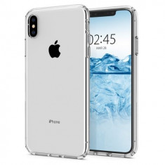 Husa Premium Originala Spigen Liquid Crystal iPhone Xs Max Silicon Transparent